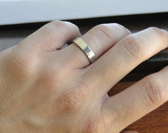 4mm Sterling Silver Ring - Silver Wedding Band with a Brushed Finish
