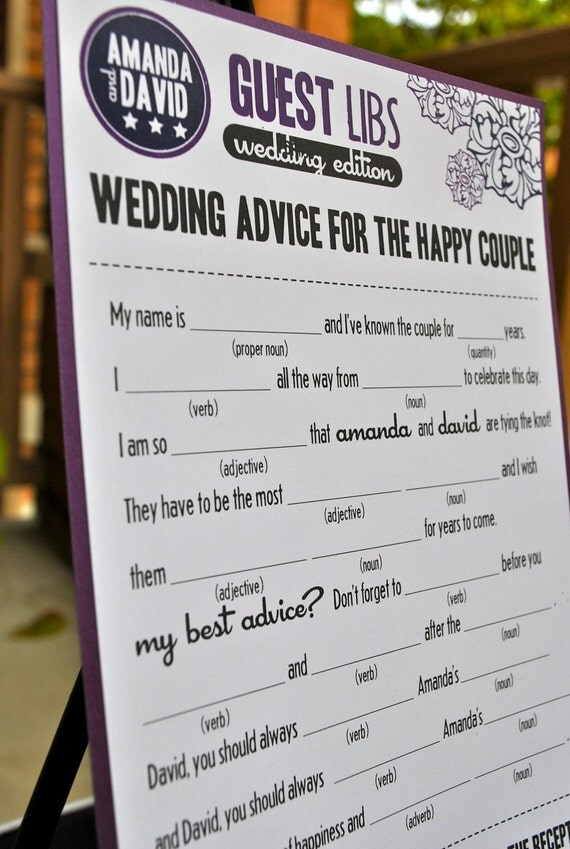 MAD LIBS - wedding card / baby shower card / bridal shower card- set of 50 cards