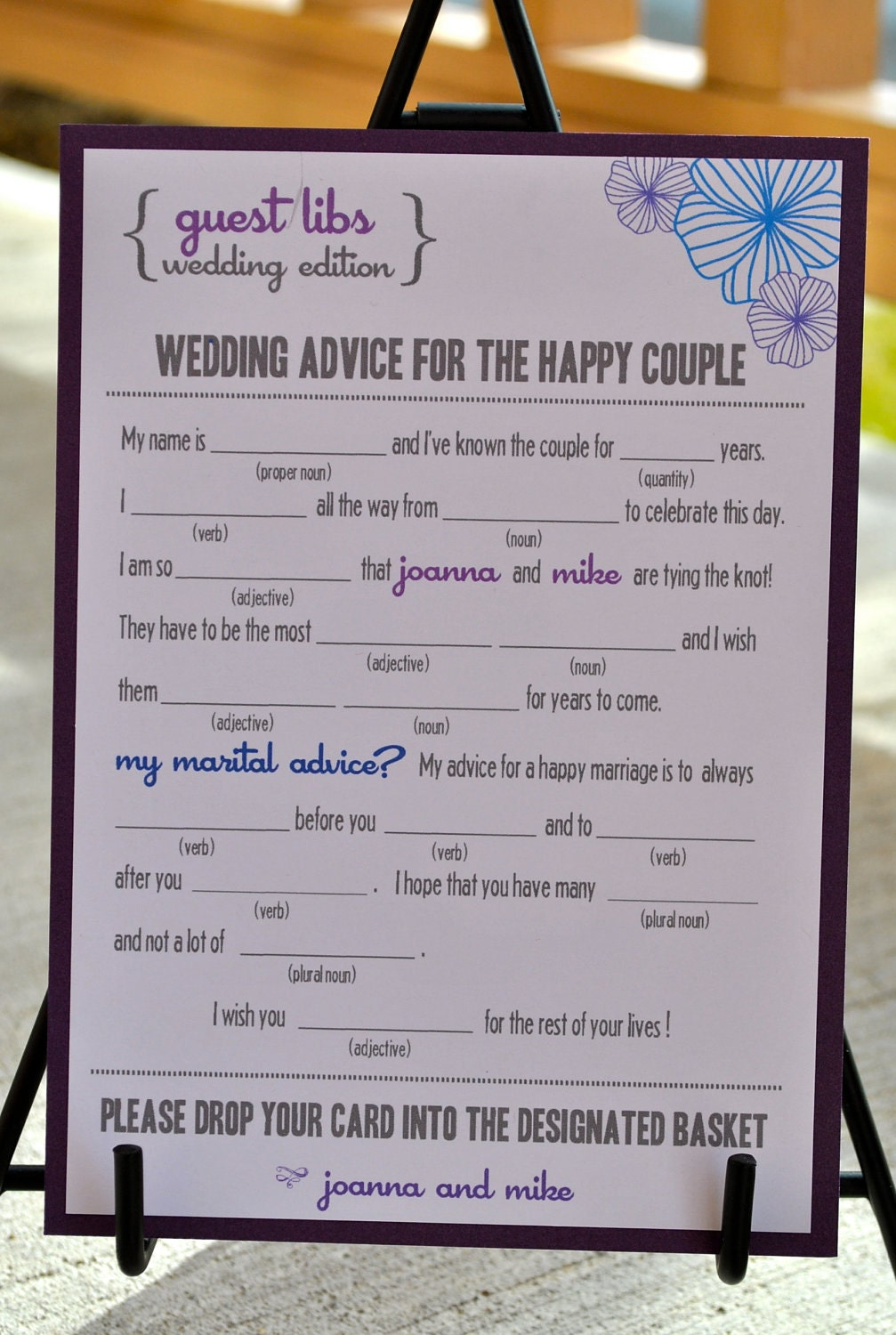 Free wedding guest mad libs template dbtopp for Guest libs wedding edition template