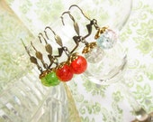 Multi Facet Glass Earrings-Choose your Color