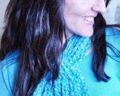 Women's Looped Scarflette Knitting Pattern