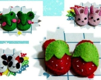 Doll Slippers, Strawberry Slippers, Lati Yellow Slippers, Pukifee slippers, Blythe Slippers, lati yellow shoes, blythe shoes