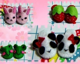 Doll Slippers, Panda Slippers, Lati Yellow Slippers, Pukifee slippers, Blythe Slippers, lati yellow shoes, blythe shoes.