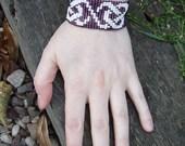 Celtic Knot Beaded Bracelet / Cuff