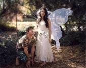 Huge Moonbeam White OPAL FAIRY WINGS Costume adult xl gown dress up goddess Christmas angel bridal faerie elf wedding beloved Gift Lover