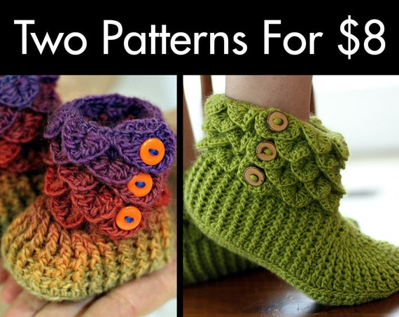 Two Boot Patterns For 8 (Permission to Sell Finished Items)