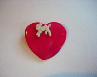 Heart and Lamb Hair Barrette