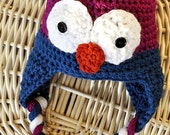 Crochet Owl Hat - Made To Order