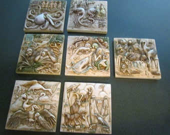 Your Choice of One Noah's Park Magnetic 4 Inch Square Art Tile by Picturesque - Six Different Styles Available