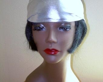 Silver Headband, Womens Fitness Headband. Costume. Dance. workout. fashion. accessory    SewSoCAl