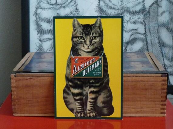 Vintage Cat Advertising Postcard Almidon Hoffmann 1930 Reprint 1991