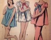 Advance 8489 Womens Shorties Teddy Pajama 1950s Pattern