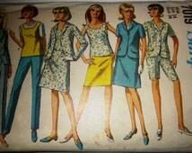Simplicity 7109 Women's 60s Jacket Skirt Blouse Pants Sewing Pattern