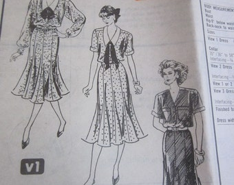 Reader mail order 5592 Womens Dress Sewing Pattern Bust 38 to 42
