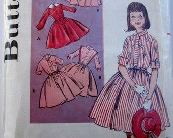 Butterick 9161 Girls 50s Shirtwaist Dress Sewing Pattern Size 8 Breast 26