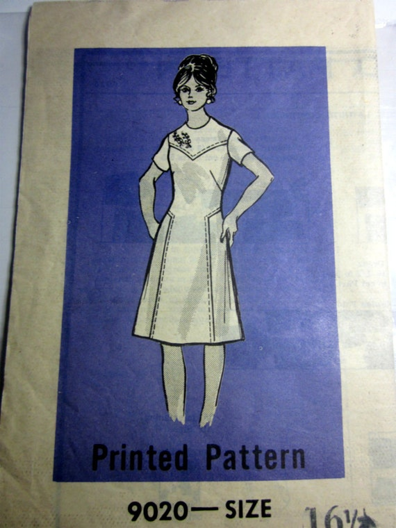 workbasket 9020 mail order s panel dress sewing