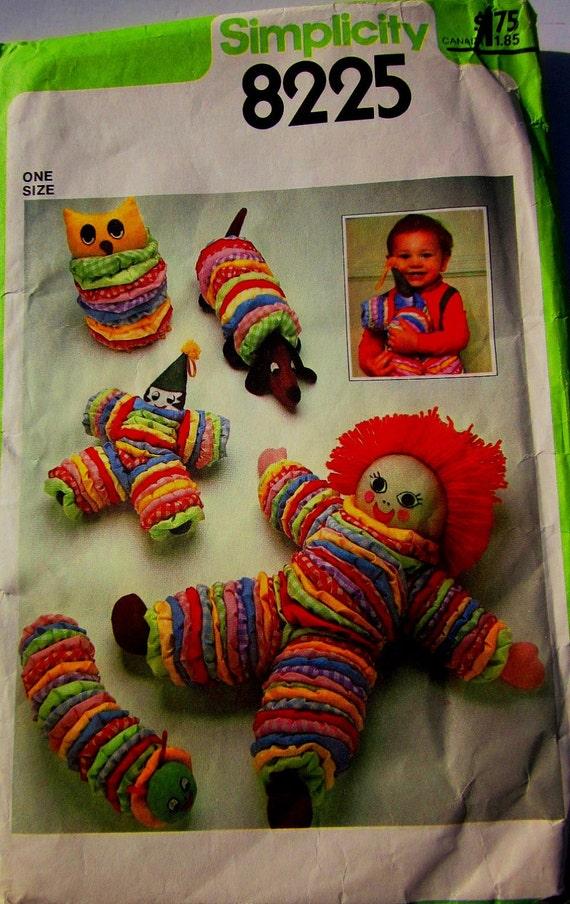 Simplicity 8225 yo yo toy doll 70s sewing craft by denisecraft for Yo yo patterns crafts