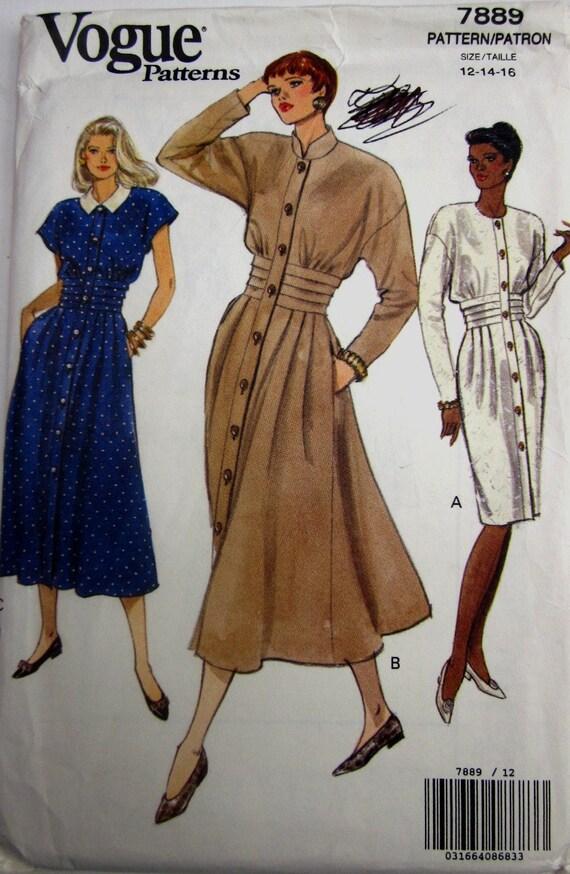 Vogue 7889 Womens Flared Dress Pattern