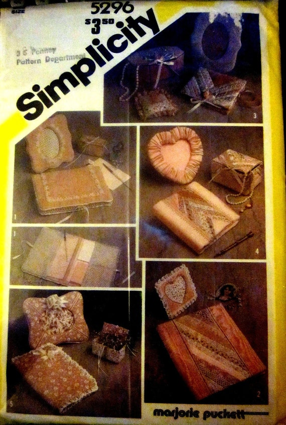 Simplicity 5296 Fabric Picture Frame 80s Sewing Pattern