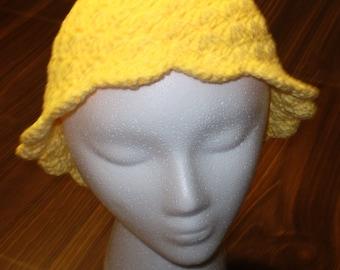 Yellow  Cotton Sassy Hat