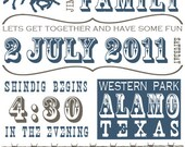 Western Playbill Style Invitation - Customizable - Print Your Own