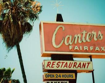 Canter's Delicatessen - Los Angeles Neon Sign - Mid Century Modern Decor - Neon Typography - Googie Wall Art - Fine Art Photography