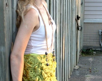 Hand Sewn Chiffon Rosette Skirt