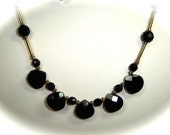 Black Onyx and Gold Vermeil Necklace