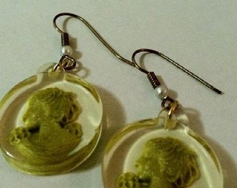 Cameo Earrings Lady Of Spring Intaglio