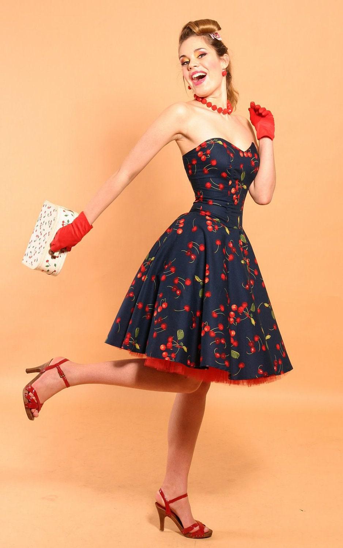 rockabilly cherry bomb dress. Black Bedroom Furniture Sets. Home Design Ideas