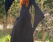 Savannah Desert Coat ~ Long Black Coat ~ Samhain ~ Halloween Outfit ~ Made to Measure ~ Gothic ~ Technodolly ~