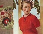 Stitchcraft Magazine June1936, Art Deco handcrafts - Vintage Knitting Pattern booklet PDF