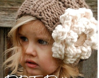 Knitting PATTERN-The Sophia Slouchy (Toddler, Child and Adult sizes)