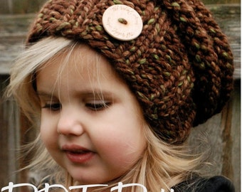 KNITTING PATTERN - Brielle Slouchy (Toddler, Child, and Adult sizes)