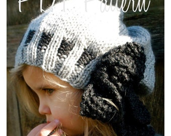 Knitting PATTERN-The Rochelle Slouchy (Toddler, Child, Adult sizes)