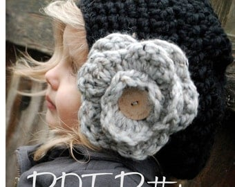 Crochet PATTERN-The Madyson Slouchy (Toddler, Child, and Adult sizes)