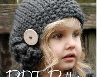 Knitting PATTERN-The Bennett Beret (Toddler, Child, Adult sizes)