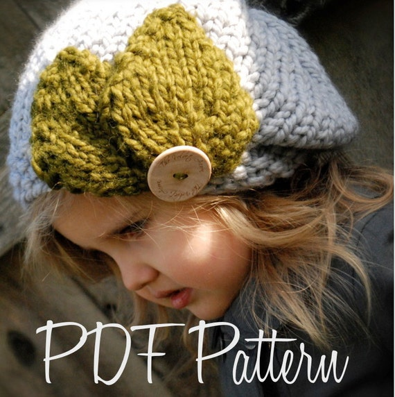 Knitted Beret Pattern Toddler : KNITTING PATTERN-Olivia Beret Toddler Child Adult sizes