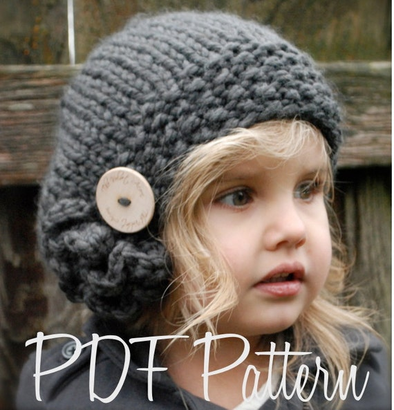 Knitted Beret Pattern Toddler : Knitting PATTERN-The Bennett Beret Toddler Child Adult