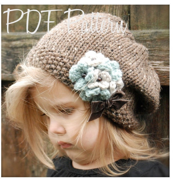 Knitting PATTERN-The Gysella Slouchy (pattern includes the sizes for: toddler, child, and adult).