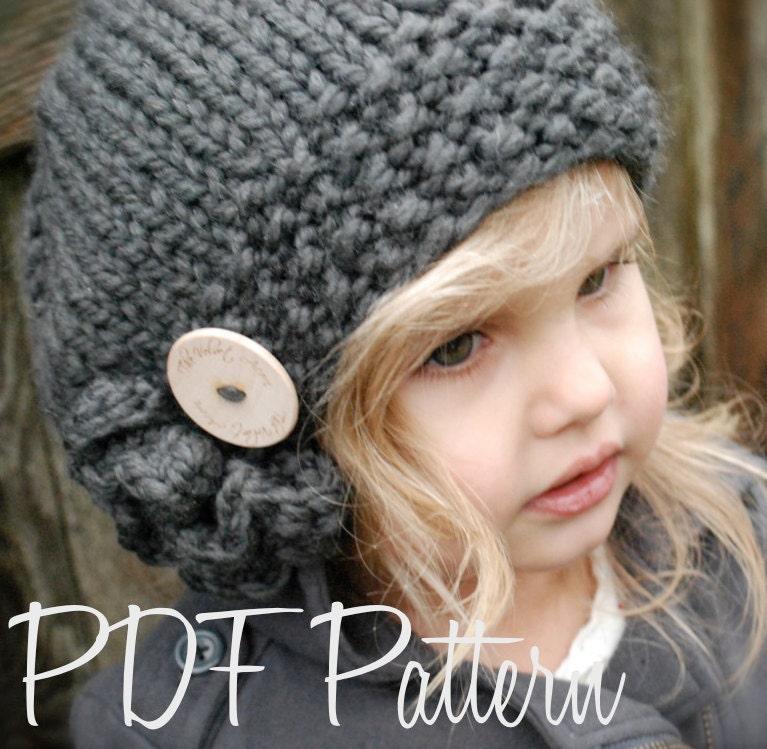 Knitting Pattern Child s Beret : Knitting PATTERN-The Bennett Beret Toddler Child Adult