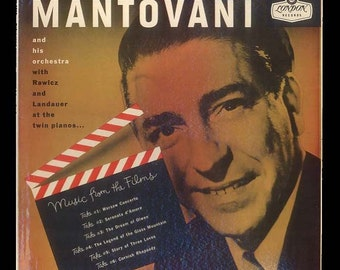 Mantovani and his Orchestra with Dual Pianists - Vintage Vinyl Record Album - 1956 London LP Fine Orchestral Music