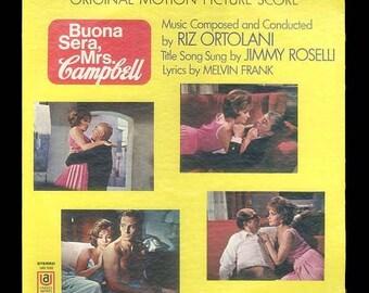 Gina Lollobrigida, Buona Sera, Mrs. Campbell Movie Soundtrack Music, Telly Savalas Phil Silvers, Shelley WInters Vinyl LP Record Album