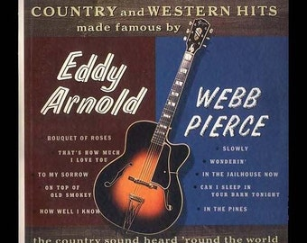 Country - Vintage Vinyl Record Album - Don Bailey and Jerry Shook Sing Eddy Arnold and Webb Pierce - 1964l LP
