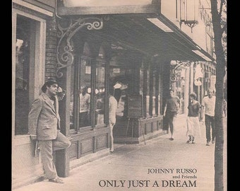 Ithaca Aurora Street, Johnny Russo and Friends - Only Just a Dream,  Ithaca Music - 1984 Rongo Records, Vintage Record Album Vinyl,