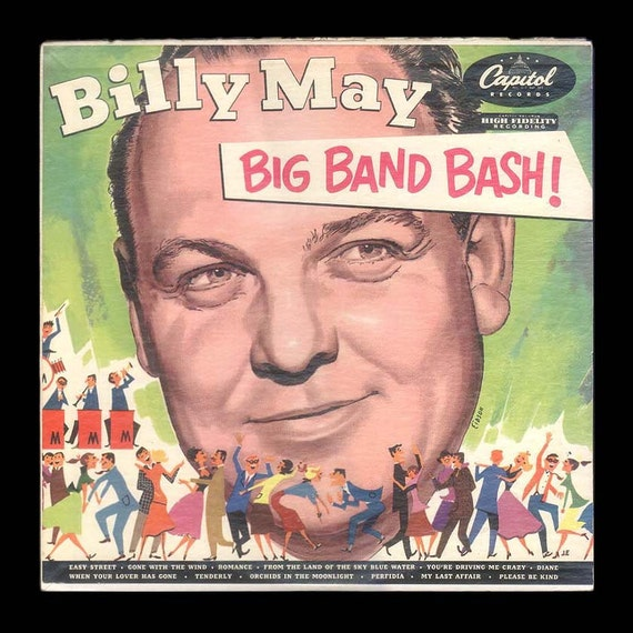 Billy May Orchestra, Big Band Bash, Vintage Record Album, 1952 Collectible Capitol Jazz Music LP