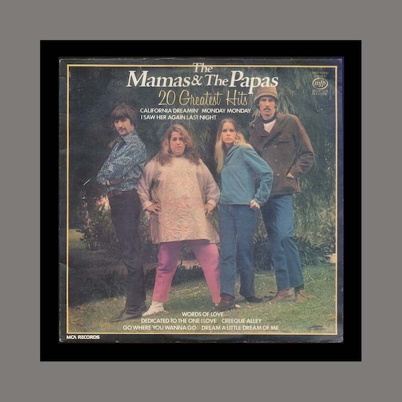 The Mamas and the Papas 20 Greatest Hits 1980 Music for Pleasure Vintage Record Album California Dreaming