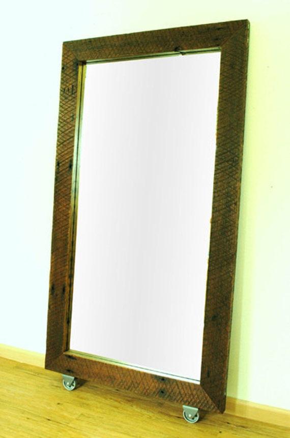 Reclaimed Wood Floor Mirror By Christopheroriginal On Etsy