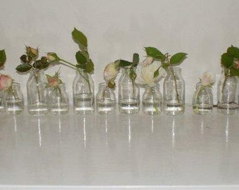 SPRING WEDDINGS. Eleven recycled / upcycled glass specimen vases Two sizes .ECO Decor Spring Celebrations