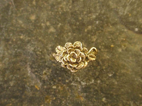 14K Gold Rose Ring